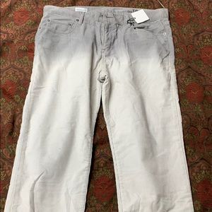 Gap 31 tall ombré grey corduroy NWT